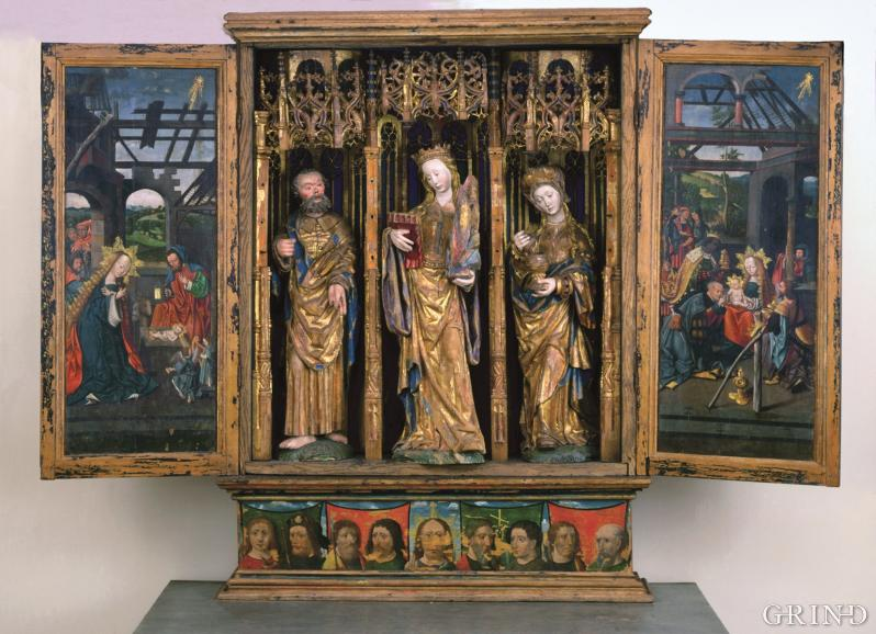 Late medieval altar piece from Austevoll Church
