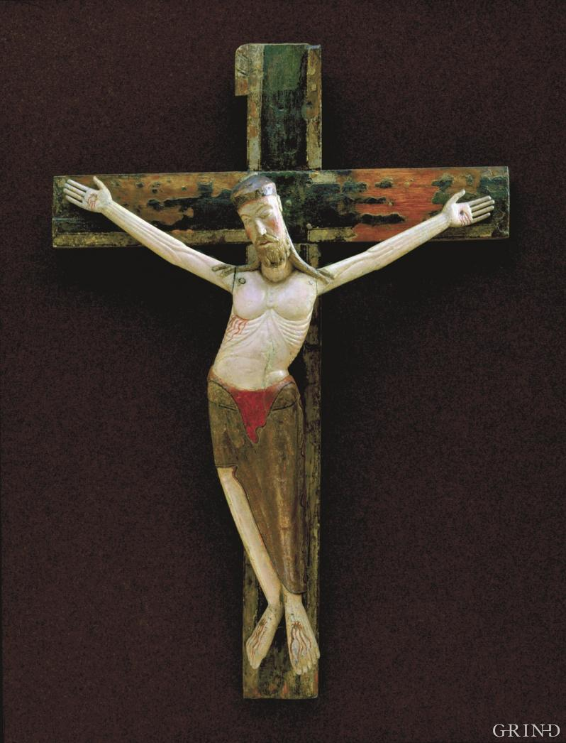 The triumphant Crucifix from Jondal Church from around 1200 AD
