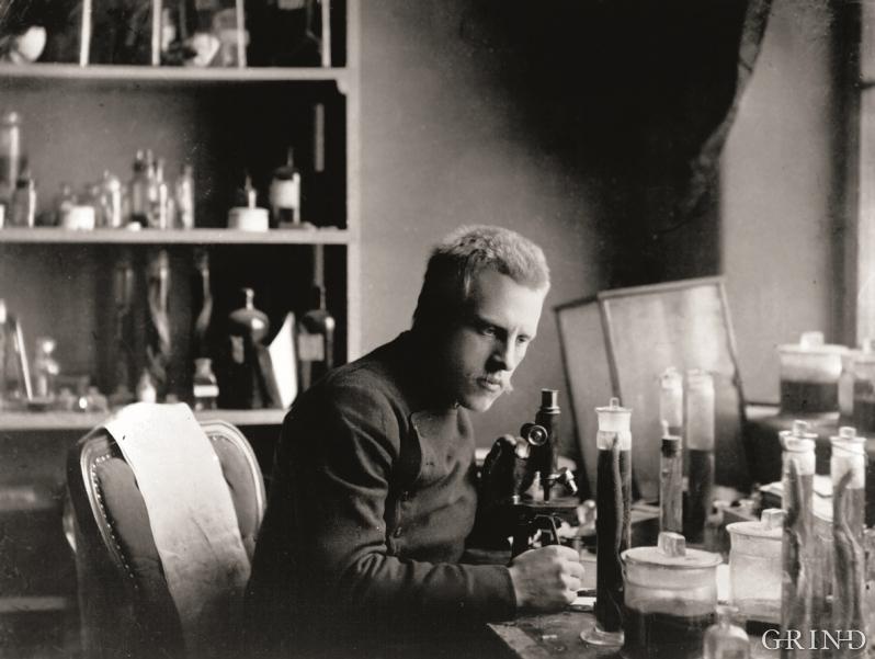 Fridtjof Nansen ved arbeidsbordet sitt.
