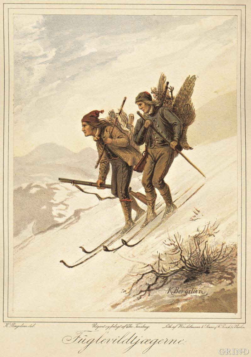 «Fugleviltjegere» av Knud Bergslien
