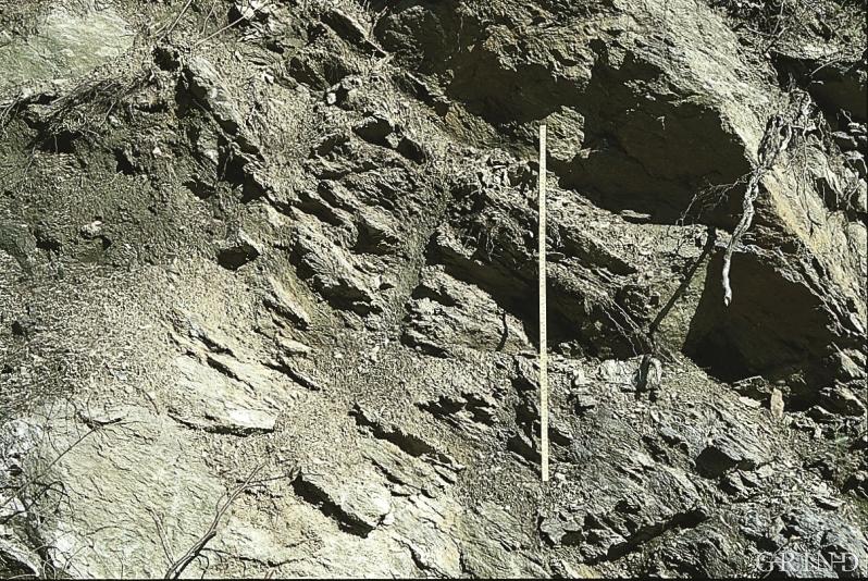 Glimmerskiferen, rotafjellet, på Ask